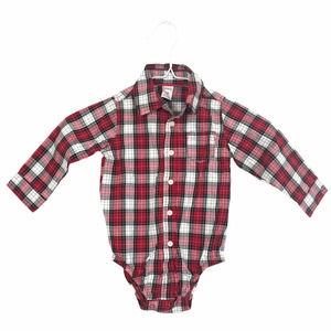 4/$25 Carter's Plaid Check One Piece Baby 18M